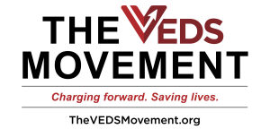 THE VEDS MOVEMENT logo, tagline and website.
